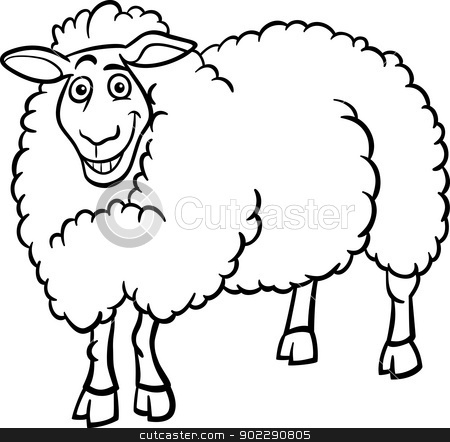 Clipart Black And White Lamb Clipart Black And White 902290805 Farm