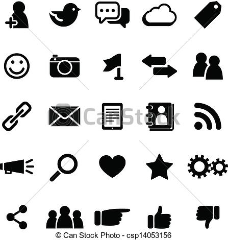 Social Media Black And White Clipart - Clipart Kid