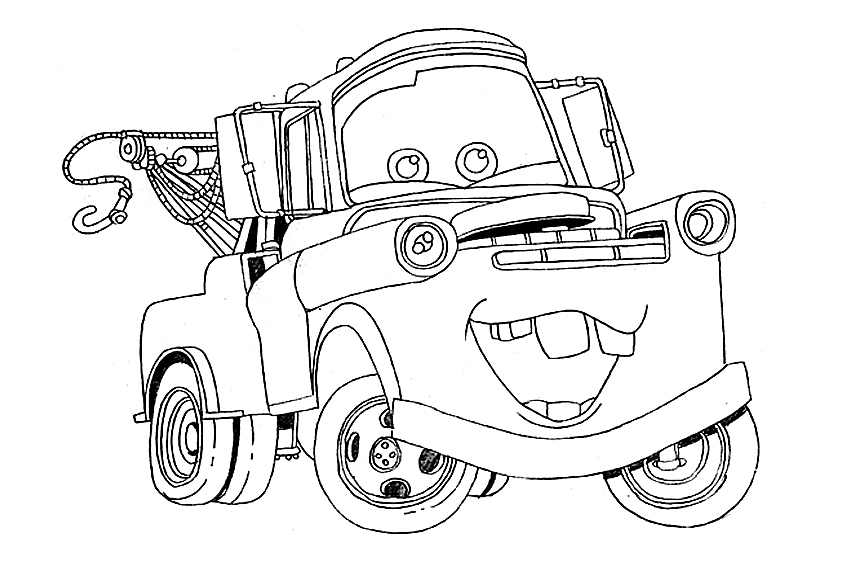 Coloring In Cars  From The Movie Cars 1 And 2
