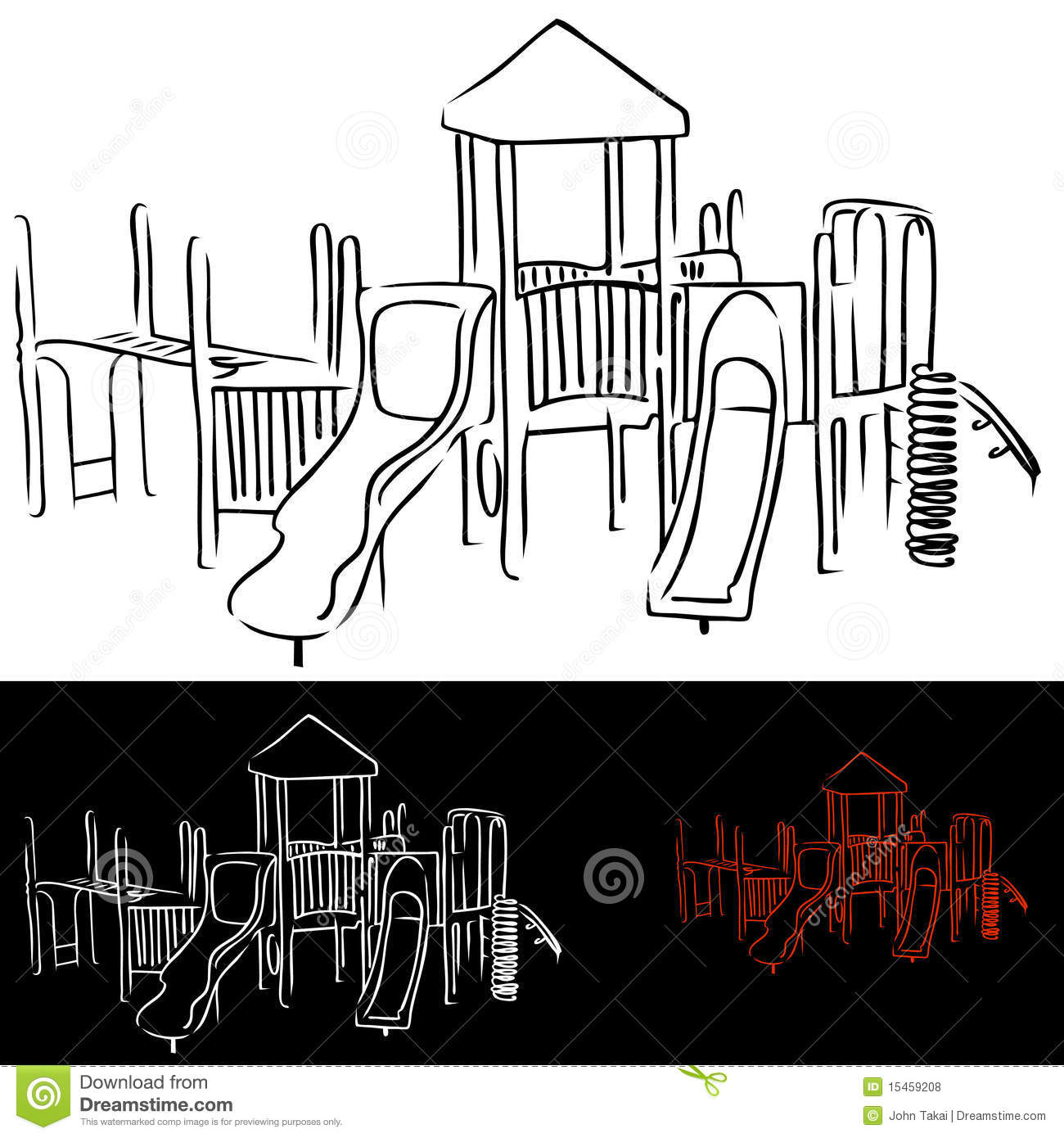 Daycare Clipart Black And White Playground Equipment