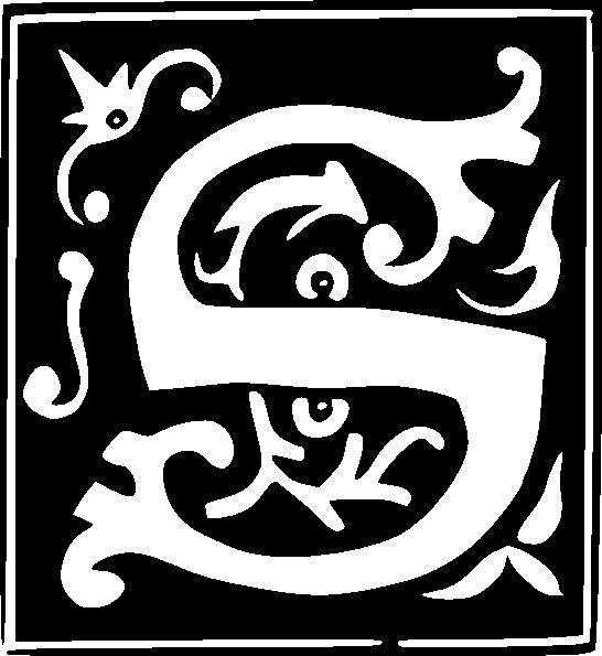 decorative letter s set clip art