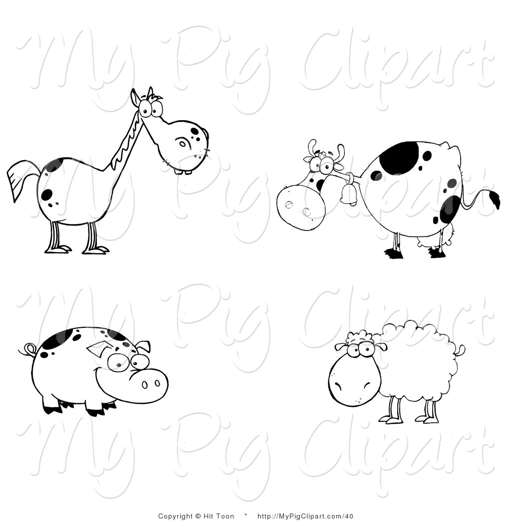 Farm Animal Clip Art Black And White Photos   Good Pix Gallery