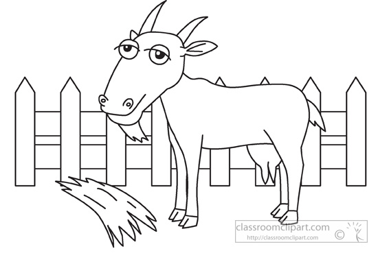 Farm  Animal Goat Black White Outline 960   Classroom Clipart