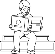 School Book Black And White Clipart - Clipart Kid