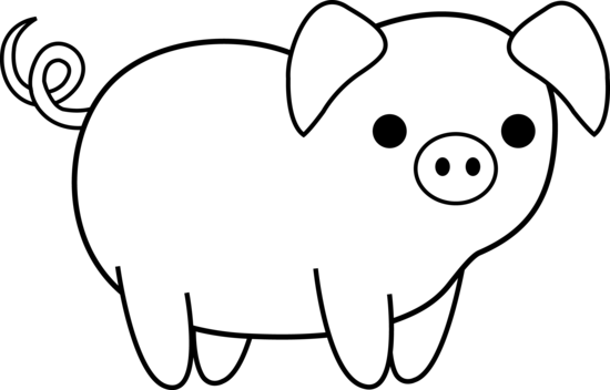Free Clip Art Animals Black And White Pig Clipart Black And White