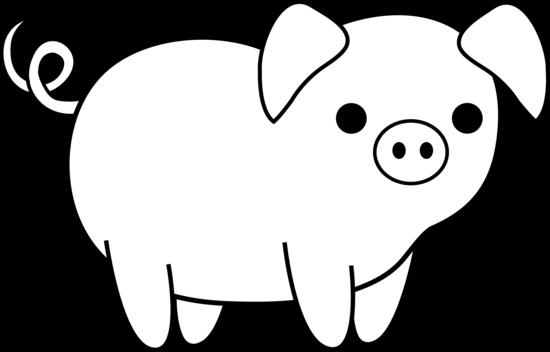 Clip Art Pig Clipart Black And White cute pig black and white clipart kid free clip art animals white