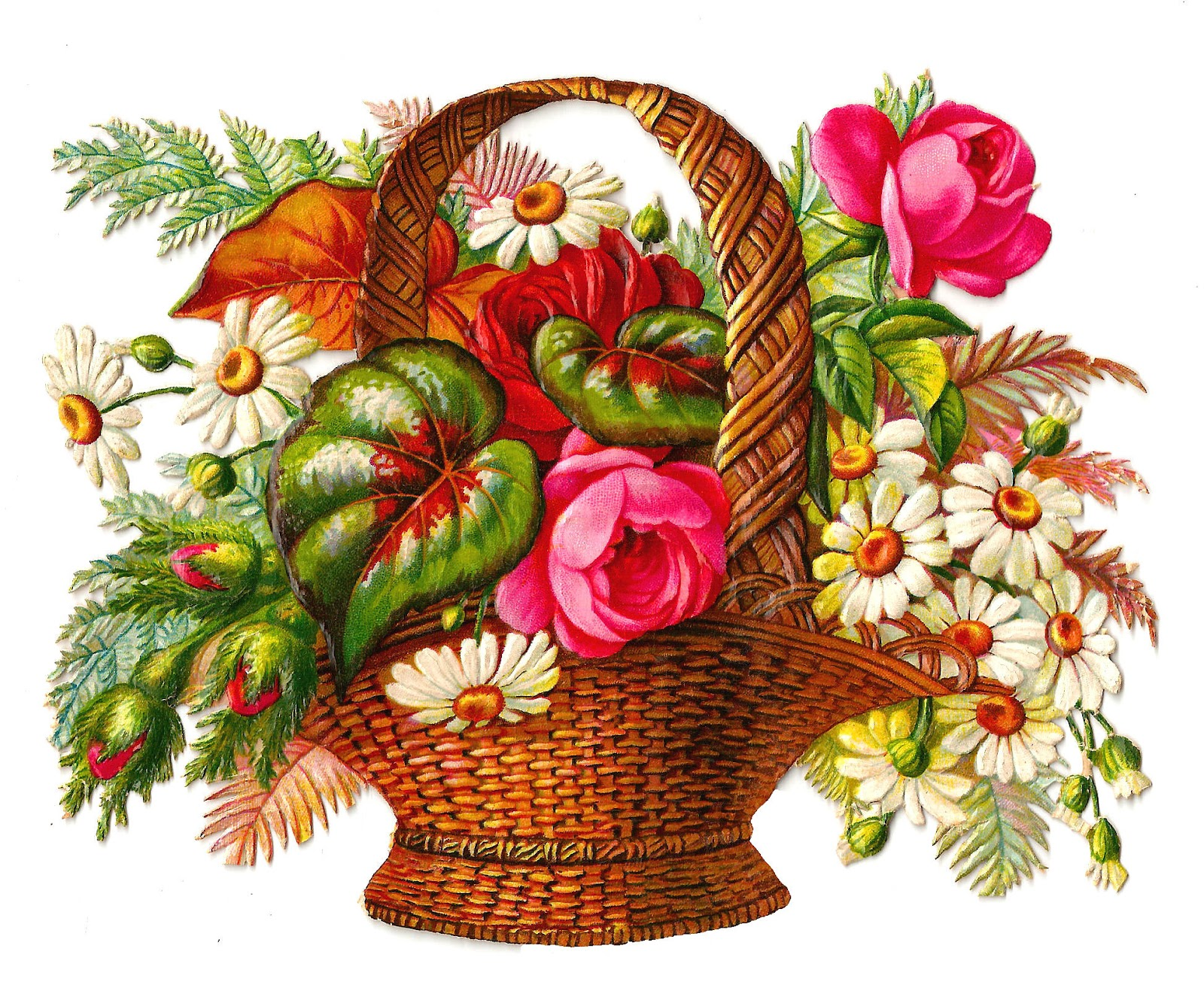 Flower Basket Clipart - Clipart Kid