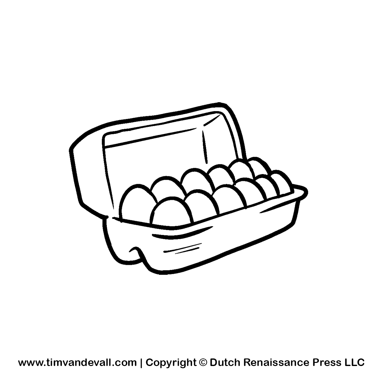 Go Back   Images For   Empty Egg Carton Clipart Black And White