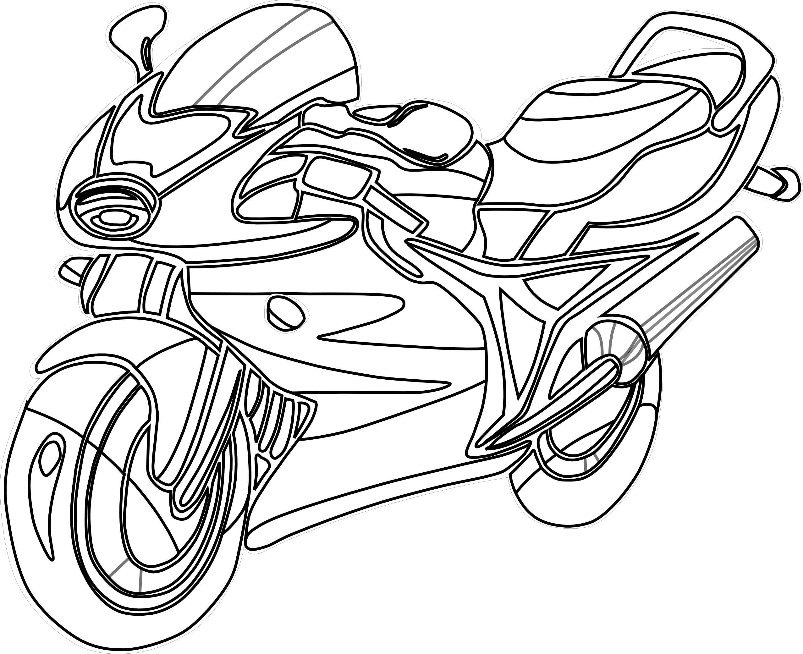 And Black White Motorcycle Clipart - Clipart Kid