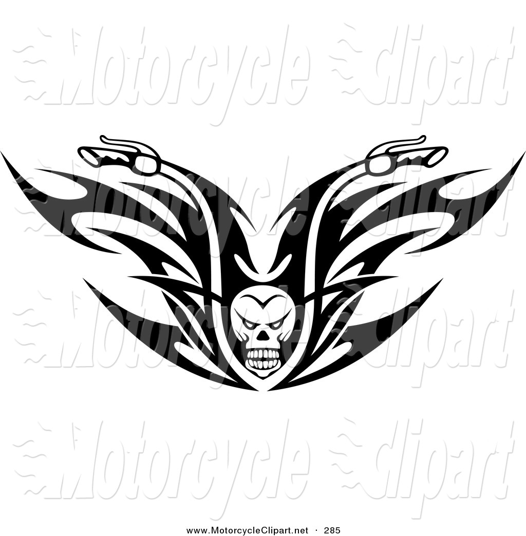 Motorcycle Tribal Clipart Black And White
