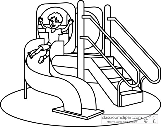 Playground Black And White Clipart - Clipart Suggest