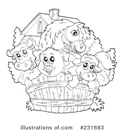 Royalty Free  Rf  Farm Animals Clipart Illustration By Visekart