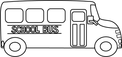 School Bus Black And White Clip Art Image   Black And White School Bus