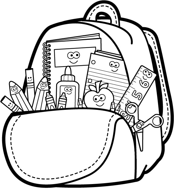 School Bus Clip Art Black And White Black And White School Clip Art