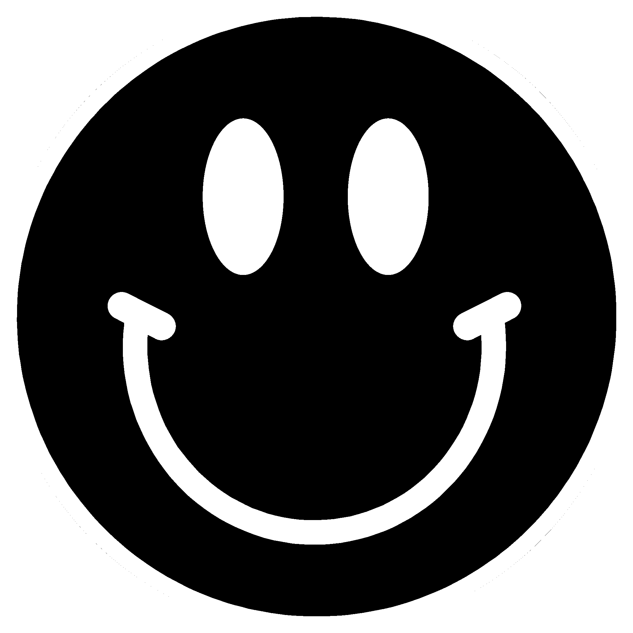 Smiley-face Black And White Clipart - Clipart Kid