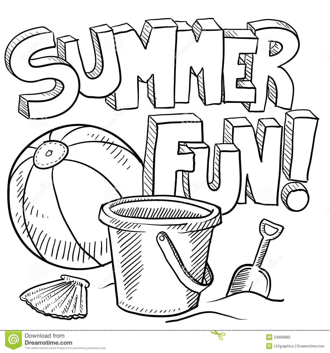 Summer Black And White Clipart - Clipart Suggest