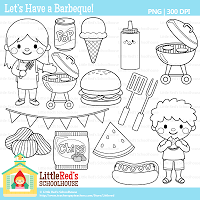 Summer Fun Clipart Black And White Let S Have A Barbeque