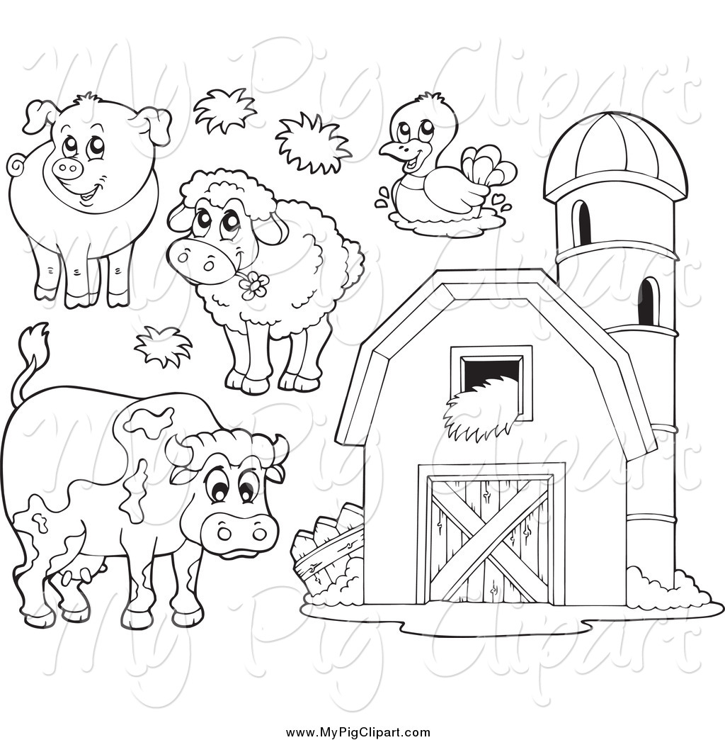 Farm Black And White Clipart Clipart Suggest