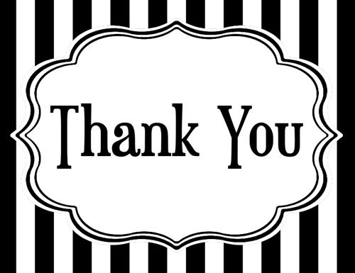 Thank You Black And White Clipart - Clipart Kid