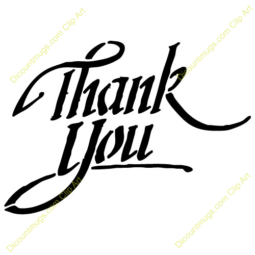Thank You Clip Art Black And White   Clipart Panda   Free Clipart