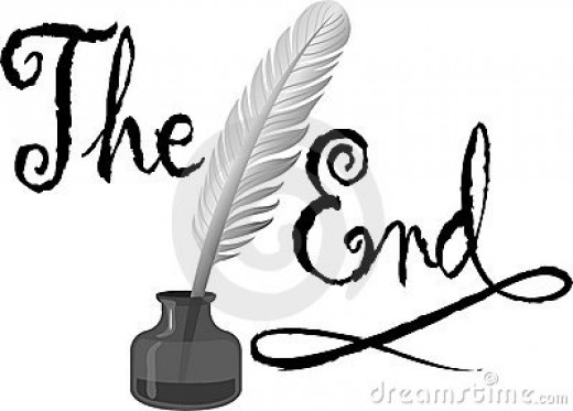 The End  Finally Finished First Draft