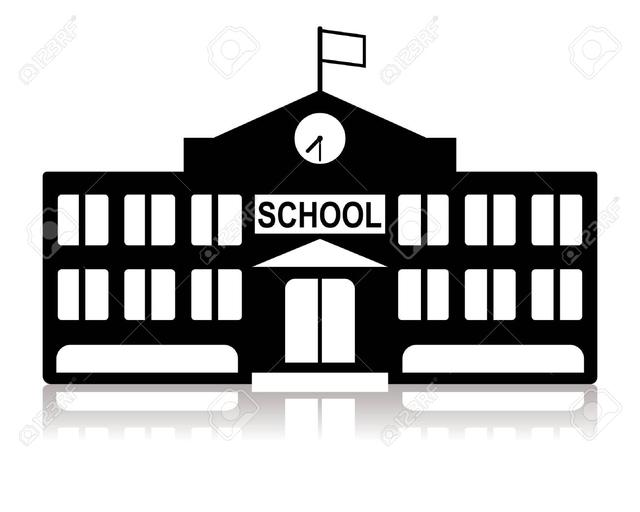 School Building Silhouette Clipart - Clipart Kid