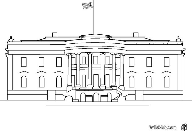 White House Coloring Page Ls