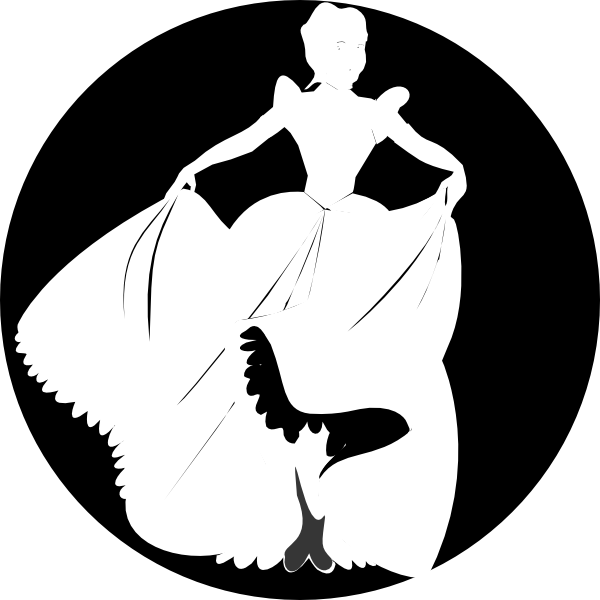 White Princess Silhouette In Black Background Clip Art At Clker Com