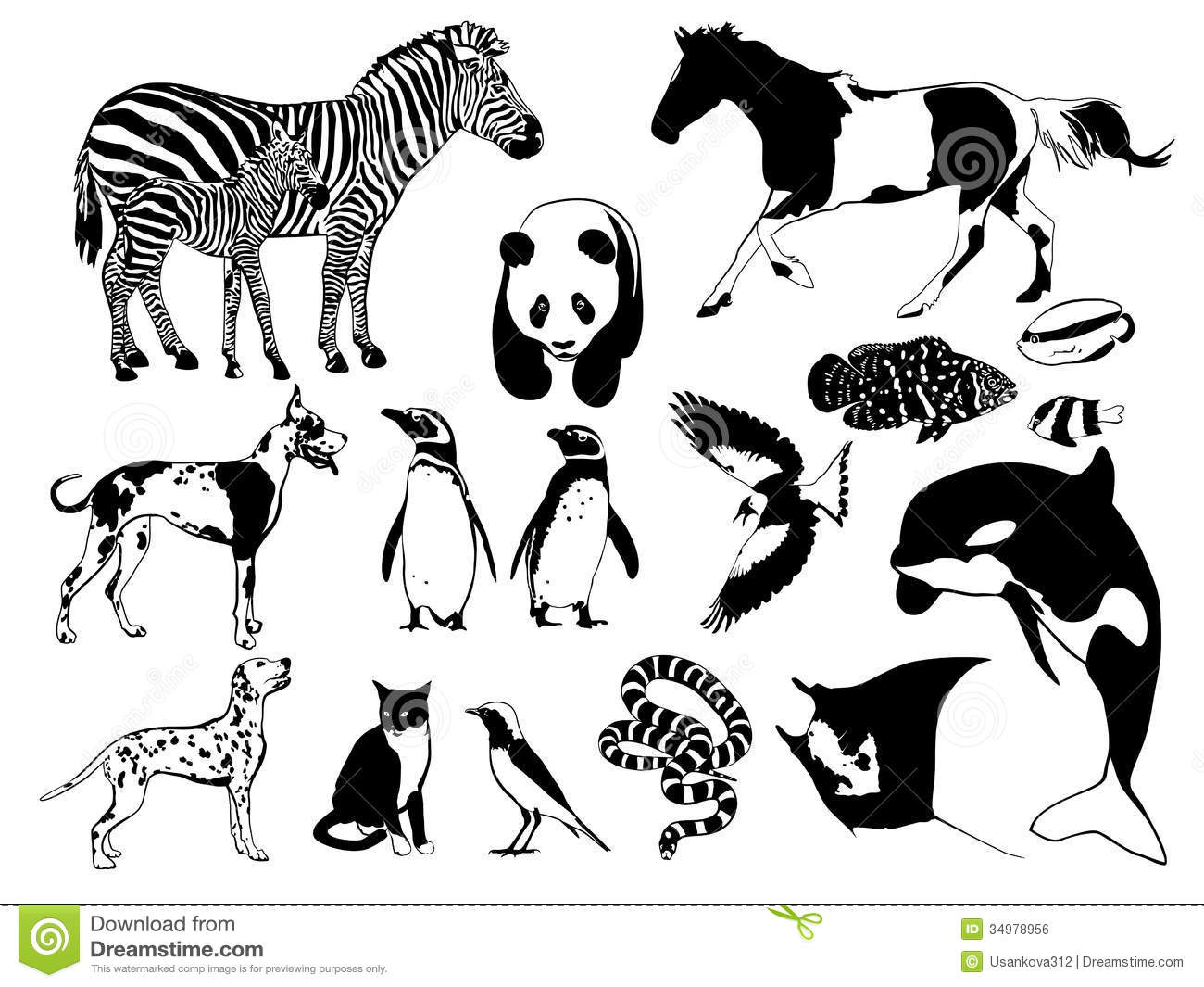 Zoo Sign Clip Art Black And White Black And White Animals