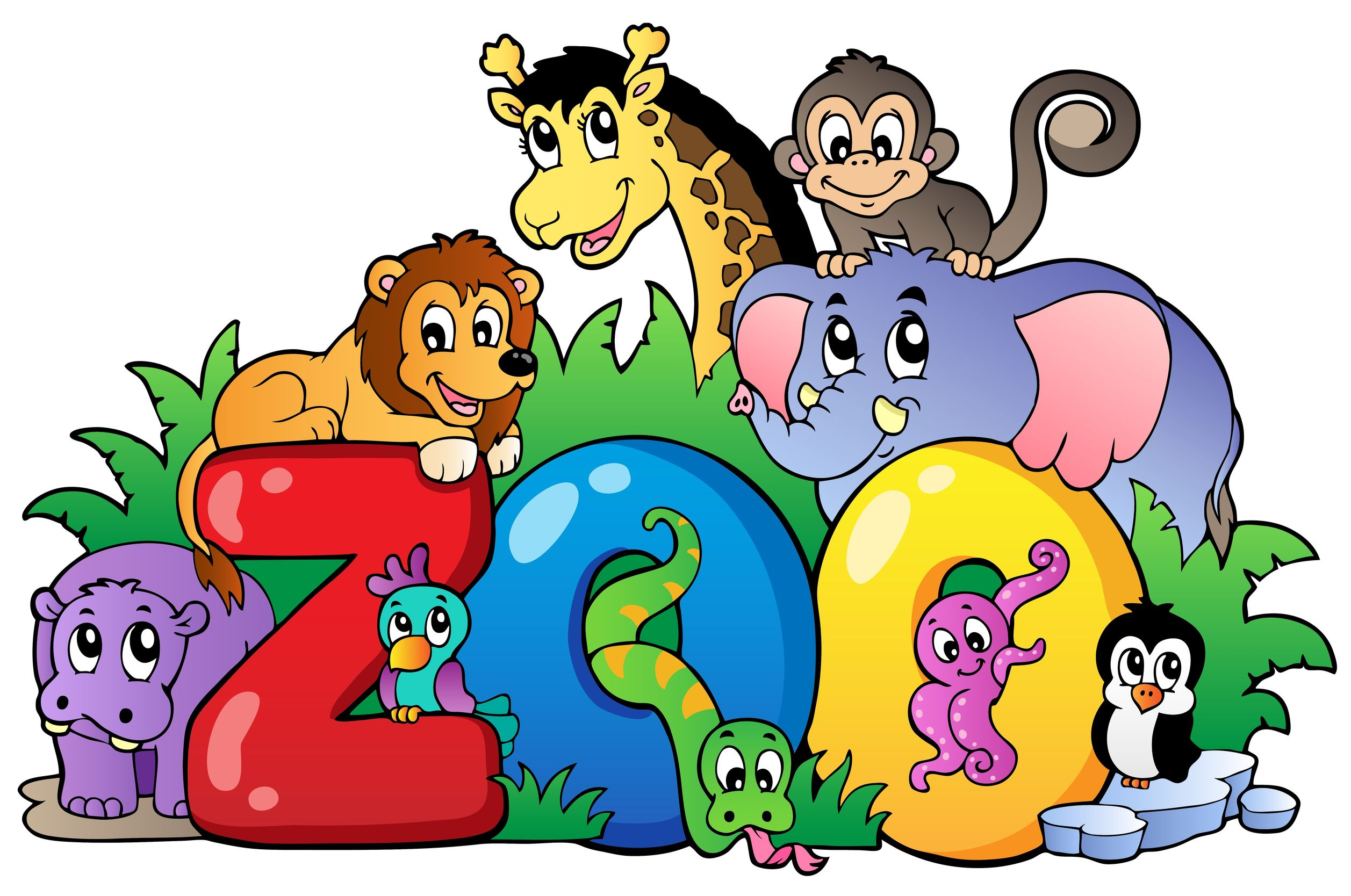 301 Moved Permanently: Cute Zoo Animals Clipart