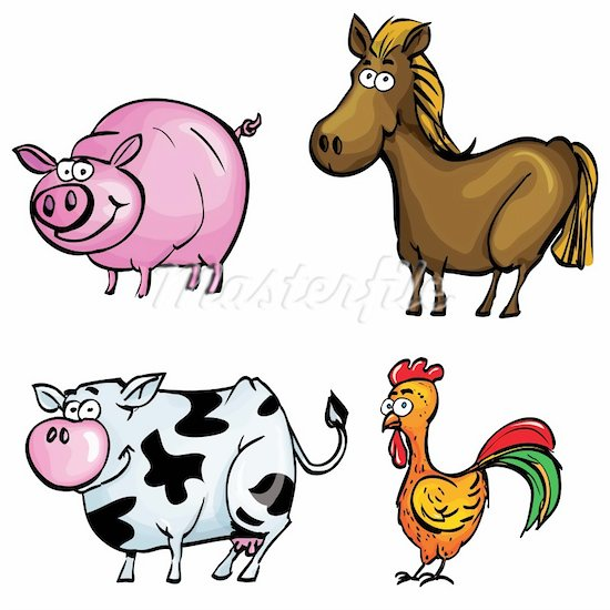 Clip Art Farm Animals Clipart farm animal clipart kid any ofcartoon clip art and farmer in tractor