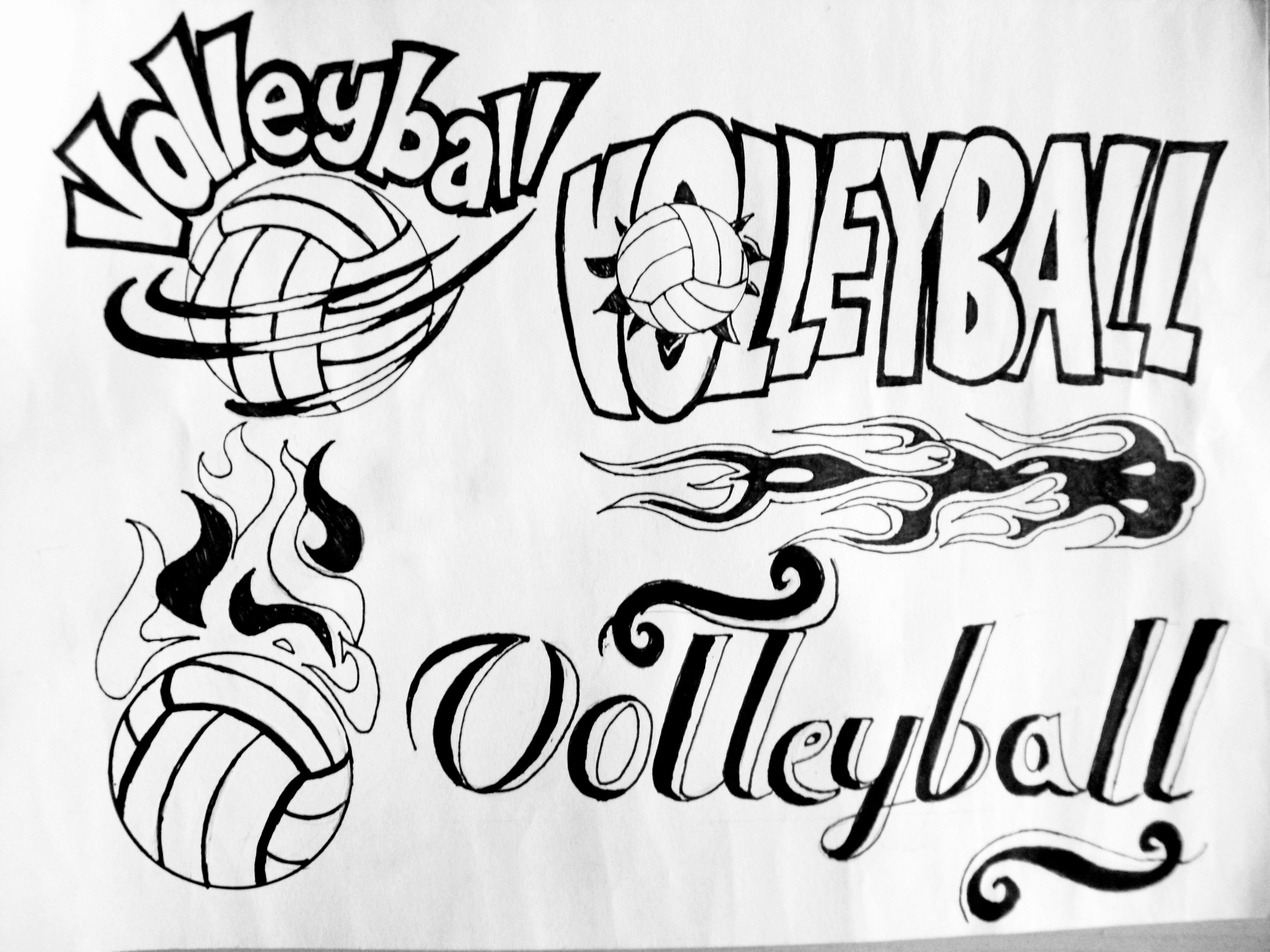 Artwork  Volleyball Poster Logo Design