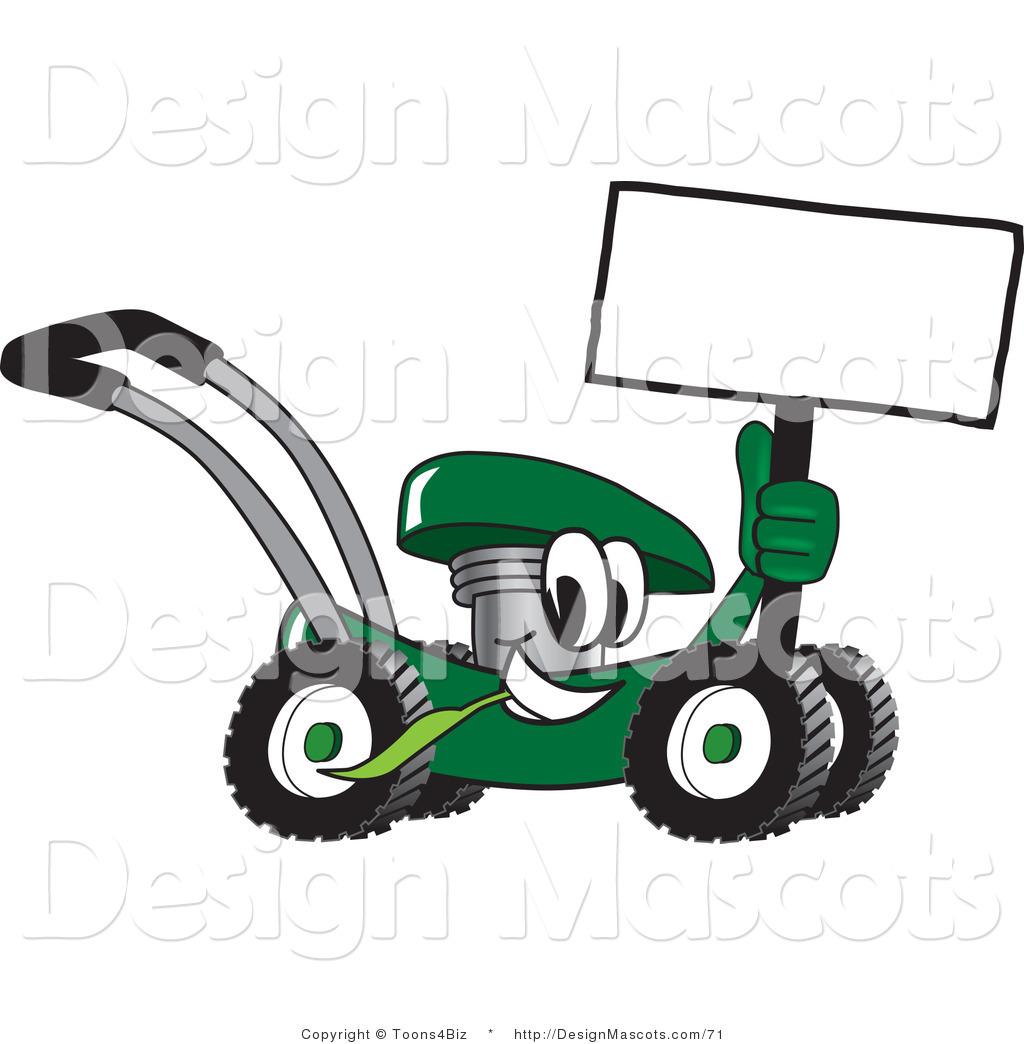 Cartoon Lawn Mower Clipart 2 Red Clip Art