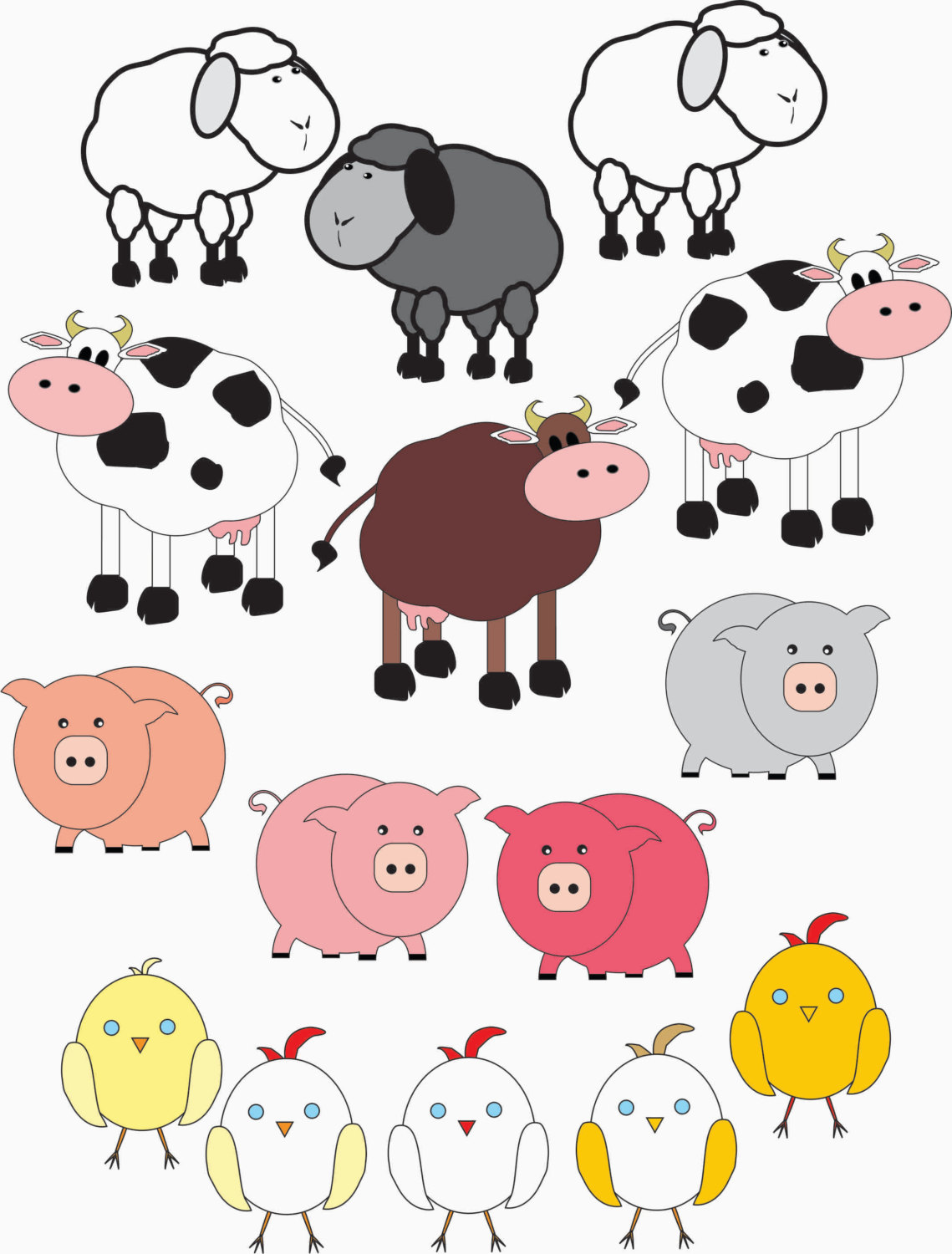 Clip Art Farm Animals Clipart farm animal clipart kid chandeliers pendant lights