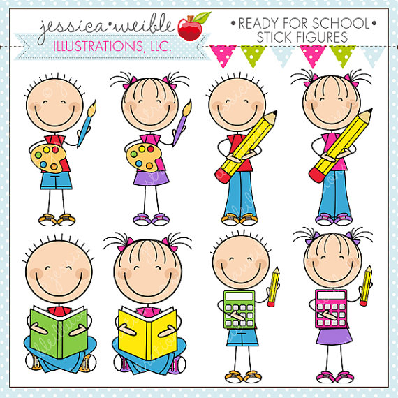 Cute Digital Clipart For Commercial Or Personal Use School Clipart