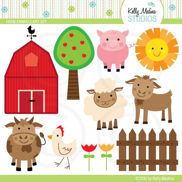 Farm Animals Art Set