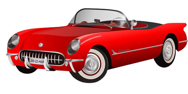 Free Red Vintage Sports Car Clip Art