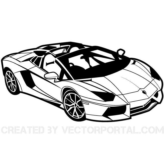 Sports Car Clipart - Clipart Kid