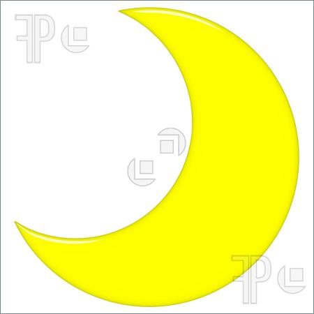 Moon Isolated In White Yellow Moon Clipart Yellow Moon Clipart