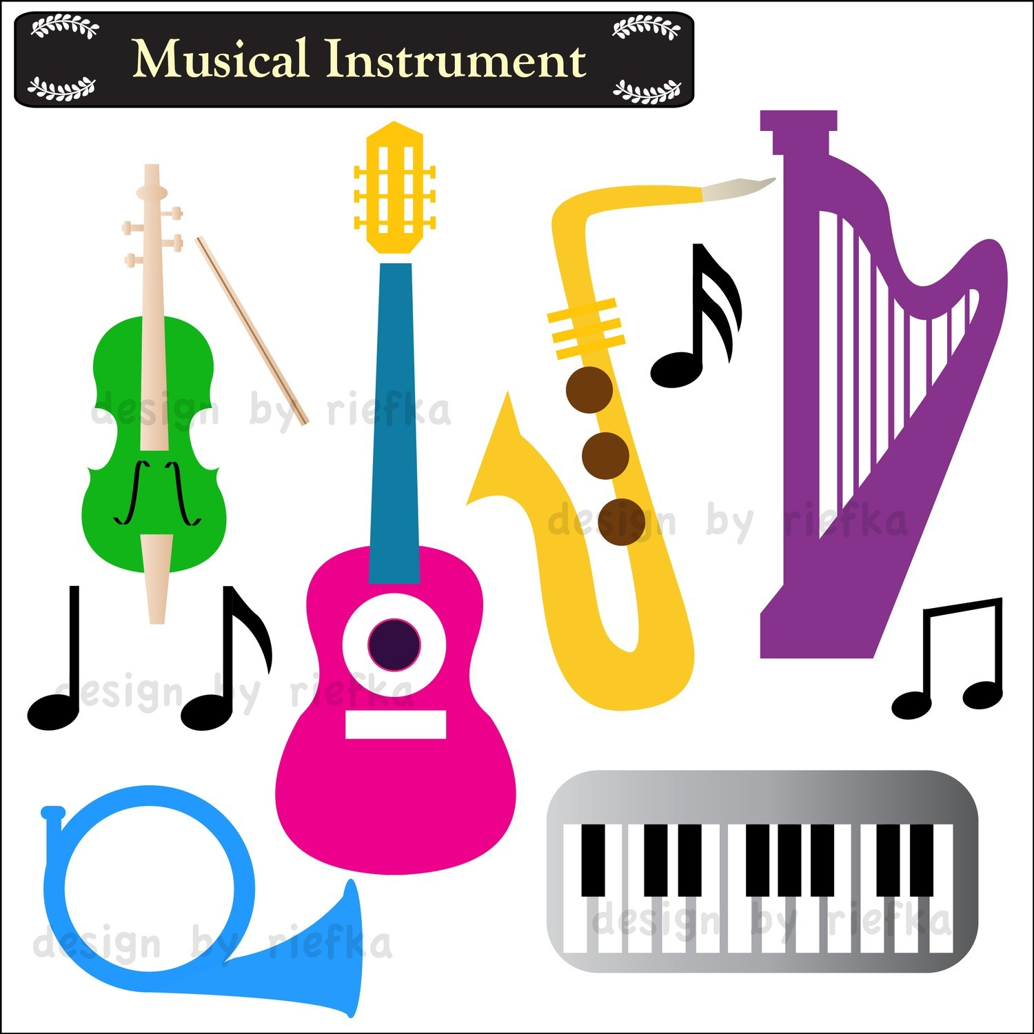 Music Instrument Clipart   Clipart Panda   Free Clipart Images