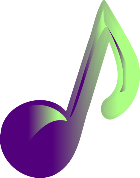 Music Note Clip Art At Clker Com   Vector Clip Art Online Royalty