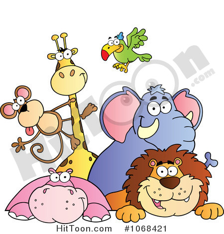 Group Of Wild Animals Clipart - Clipart Kid