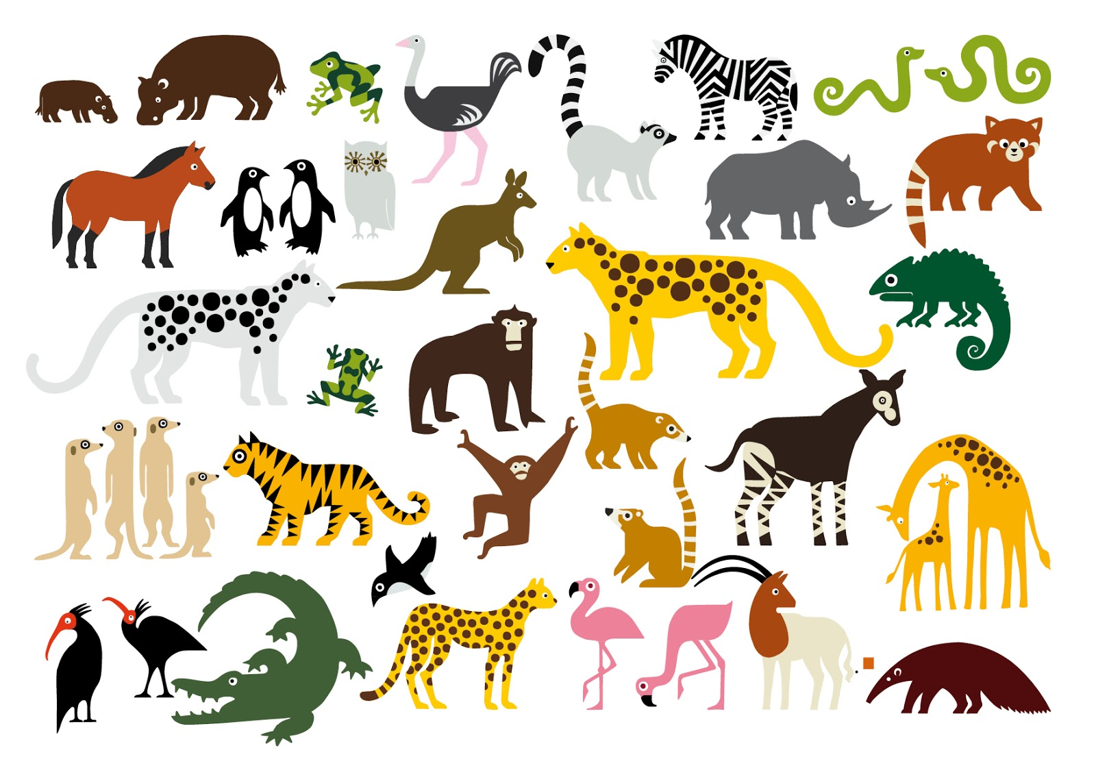 Zoo Animals Clipart - Clipart Kid