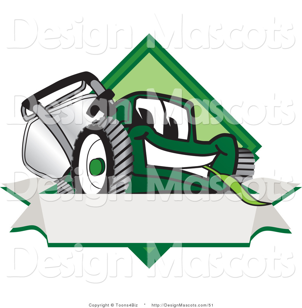 Royalty Free Clipart Of A Green Lawn Mower This Lawn