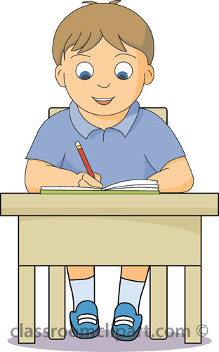 Student Working At Desk Clipart - Clipart Kid
