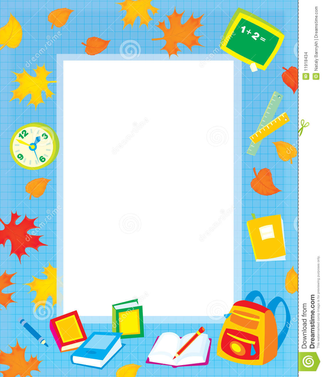 School Clip Art Borders And Frames   School Clipart