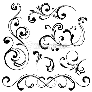 Stock Illustration Swirl Design Elements   Free Images At Clker Com