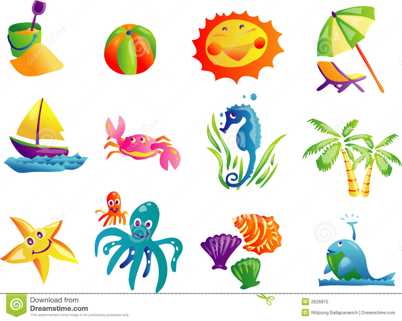 Summer Fun Clip Art Summer Beach Travel Clip Art Royalty Free Stock