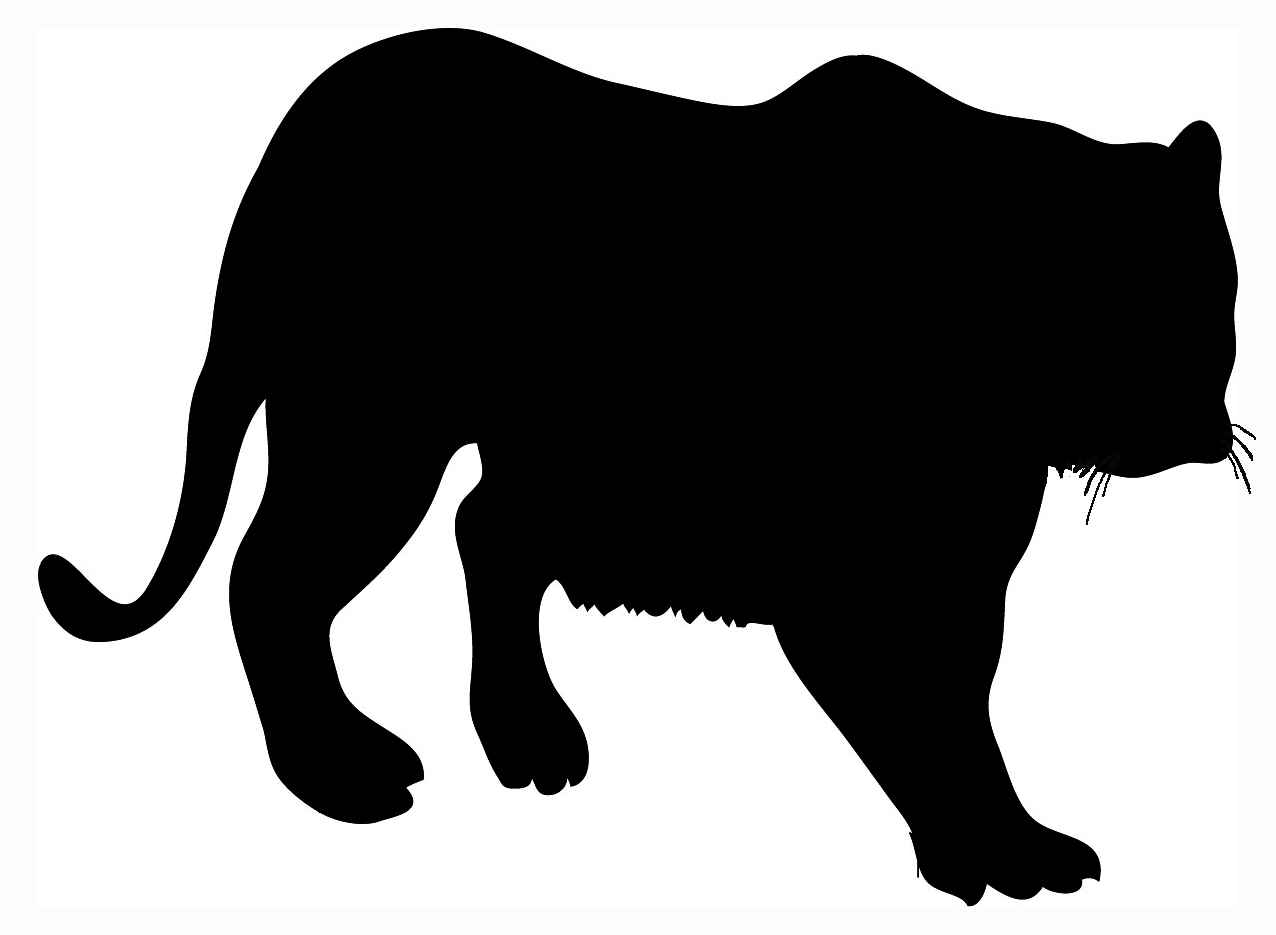 Tiger Silhouette Http Www Funny Clip Art Cool Drawings Com Animal