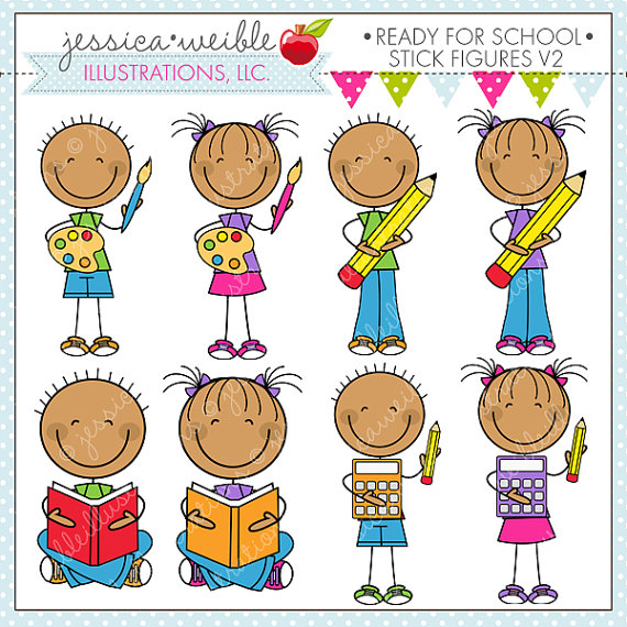V2 Cute Digital Clipart For Commercial Or Personal Use School Clipart